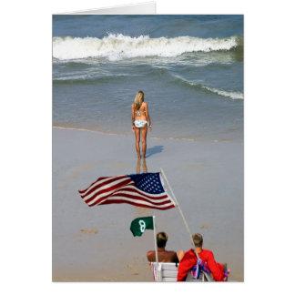 Cartão Lifeguards da menina de América