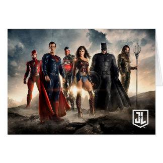 Cartão Liga de justiça da liga de justiça | no campo de