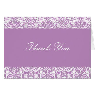 Cartão Lilac e obrigado que branco do damasco você nota