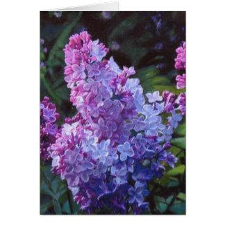 Cartão Lilacs de Lavendar