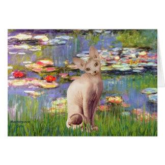 Cartão Lillies 2 - Gato de creme de Sphynx