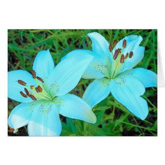 Cartão Lillies branco