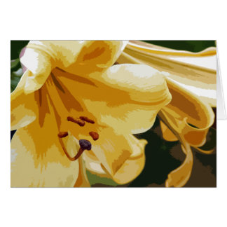 Cartão Lillies dourado