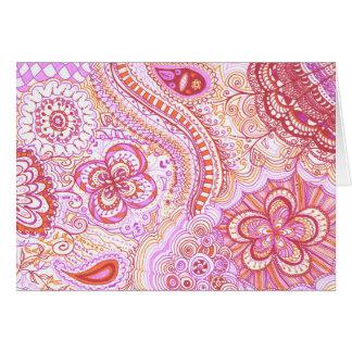 Cartão Limão-auxílio cor-de-rosa