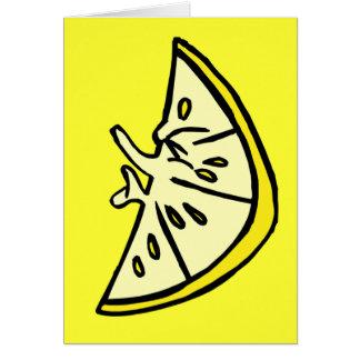 Cartão Limão do Pucker