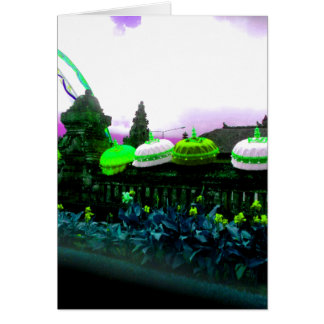 Cartão Limão do respingo da cor de Bali do guarda-chuva