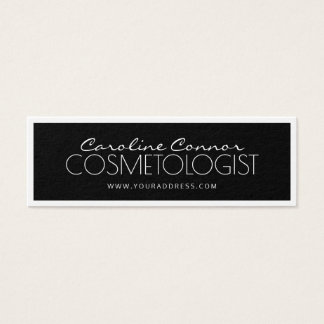 Cartão limitado preto & branco do Cosmetologist