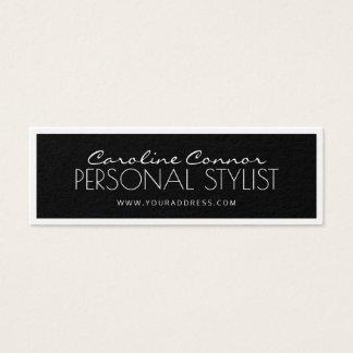 Cartão limitado preto & branco do estilista