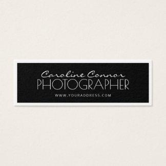 Cartão limitado preto & branco do fotógrafo