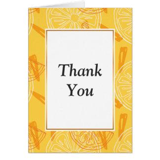 Cartão Limões amarelos brilhantes teste padrão tirado do