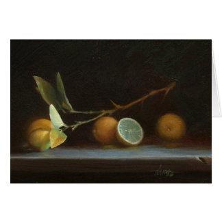 Cartão Limões mexicanos, um óleo original por David R.