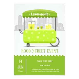 Cartão Limonada da rua da comida