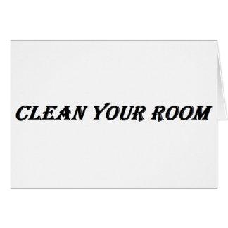 Cartão limpe sua sala