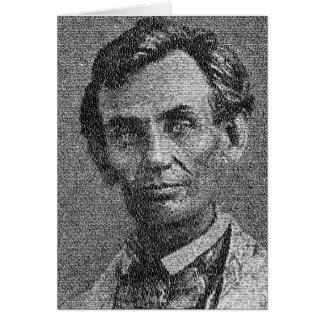 Cartão Lincoln rendeu com endereço de Gettysburg