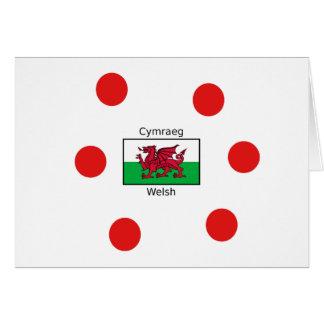 Cartão Língua de Galês e design da bandeira de Wales