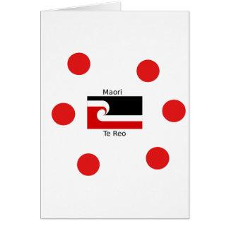 Cartão Língua de Te Reo e design maori da bandeira