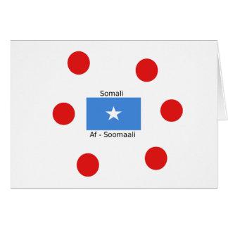 Cartão Língua e design somalianos da bandeira de Somália