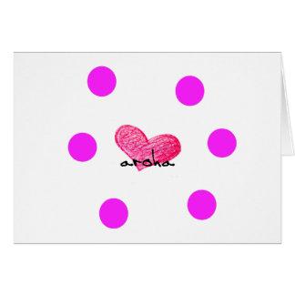 Cartão Língua maori do design do amor