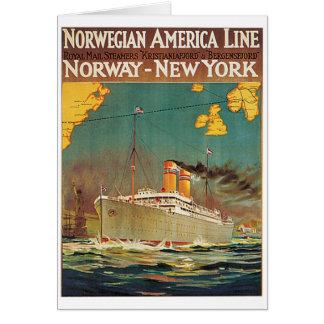 Cartão Linha americana norueguesa