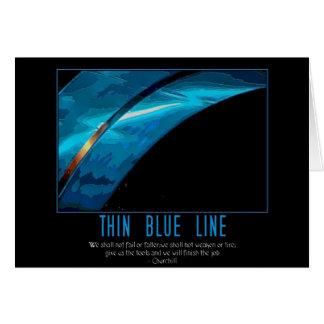 Cartão linha azul fina