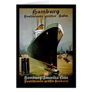 Cartão Linha de Hamburgo-Amerika