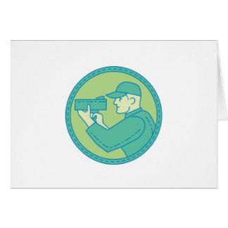 Cartão Linha do círculo da arma do radar da velocidade do