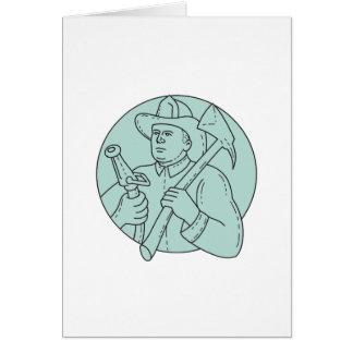 Cartão Linha do círculo da mangueira do machado do