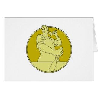 Cartão Linha do círculo do formão do escultor do