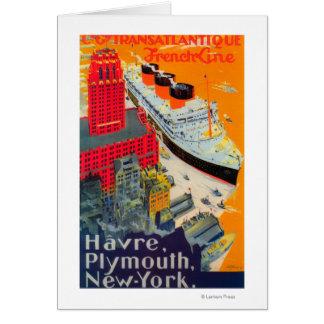 Cartão Linha francesa poster de viagens, Havre a