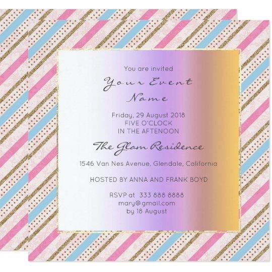 Cartão Linhas Pastel azul das listras de Antoinette do