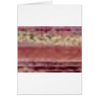 Cartão linhas vermelhas tan da rocha