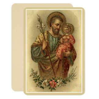 Cartão Lírio de Jesus do bebê de St Joseph