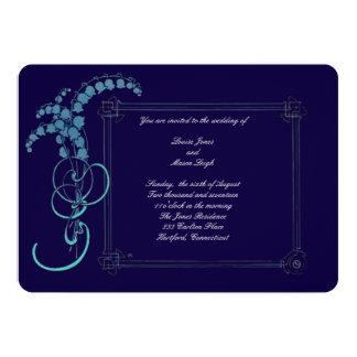 Cartão Lírio do casamento do vale