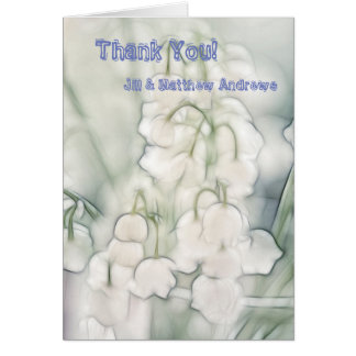 Cartão Lírio do esboço do buquê da flor do vale