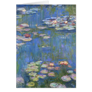 Cartão Lírios de água de Claude Monet //