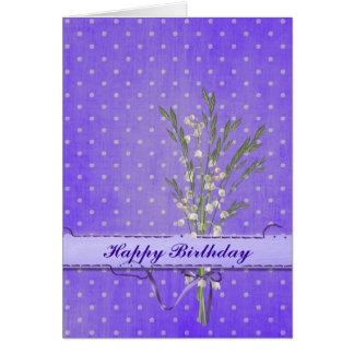 Cartão Lírios do aniversário