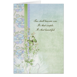 Cartão Lírios do casamento