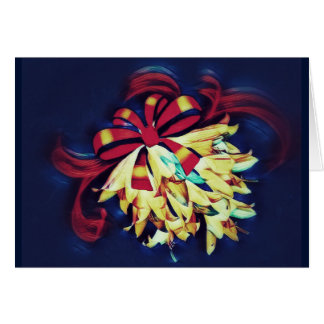Cartão Lírios envolvidos em um arco em cores brilhantes