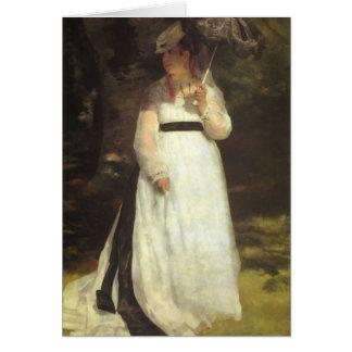 Cartão Lise com um guarda-chuva por Pierre Renoir