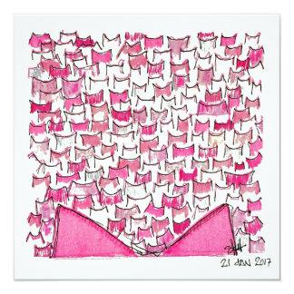 Cartão liso cor-de-rosa das orelhas de gato
