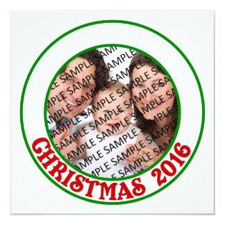 Cartão liso da foto comemorativa do Natal 2016 Convite Quadrado 13.35 X 13.35cm