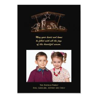 Cartão liso da foto cristã do Natal da natividade Convites