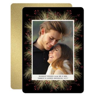 Cartão liso da foto do feriado da grinalda do