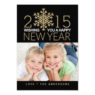 Cartão liso da foto do feriado do feliz ano novo convites personalizados