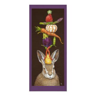 Cartão liso da lebre da colheita