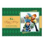 Cartão liso de Argyle do inverno boas festas Convite Personalizados
