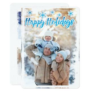 Cartão liso do feriado gelado da borda convite 12.7 x 17.78cm