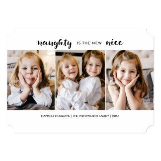 Cartão liso do feriado impertinente ou agradável