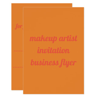 cartão liso do insecto do convite do maquilhador