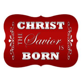 Cartão liso do Natal religioso cristão Convite 12.7 X 17.78cm